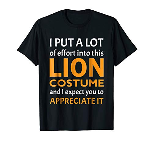 Halloween Lazy Costume T Shirt for Quick Easy Lion 2018