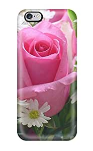 Faddish Pink Rose Case Cover For Iphone 6 Plus 9940571K65712236