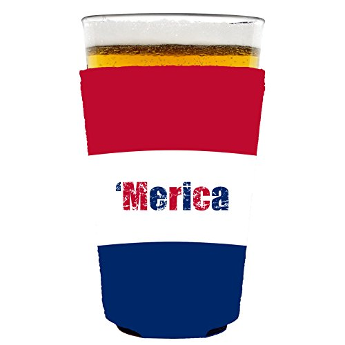 Coolie Junction Merica Colors Pint Glass Coolie