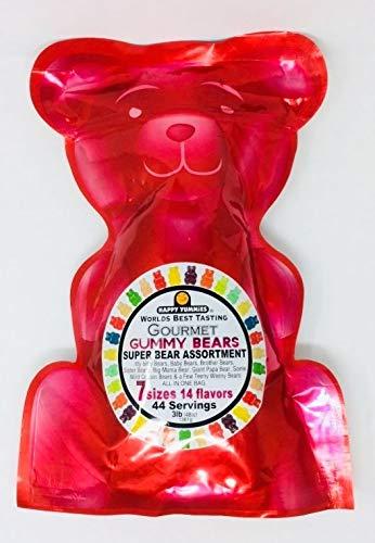 Happy Yummies Gourmet Gummy Bears 48 oz