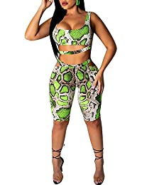 712d978b35c Womens 2 Piece Shorts Outfits Spandex Biker Lip Print Shorts Set Outfit Two  Piece Tracksuits