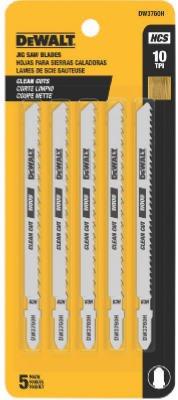 SEPTLS115DW37605 - DeWalt T Shank Wood Cutting Jig Saw Blades - DW3760-5