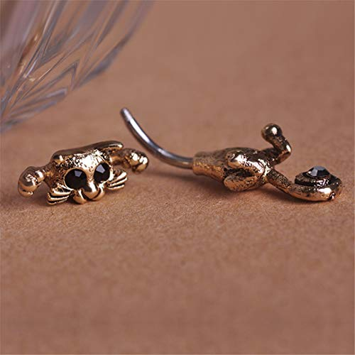 New Style Navel Ring 316L Surgical Steel Piercing Belly Button Rings Beautiful Cat Navel Piercing Sex Body Jewelry Antique Gold Plated