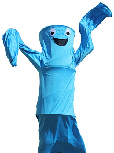 Waving Arm Inflatable Tube Man Costume (Wacky Waving Arm Flailing Tube Dancer Costume - Blue Danube - Blue)