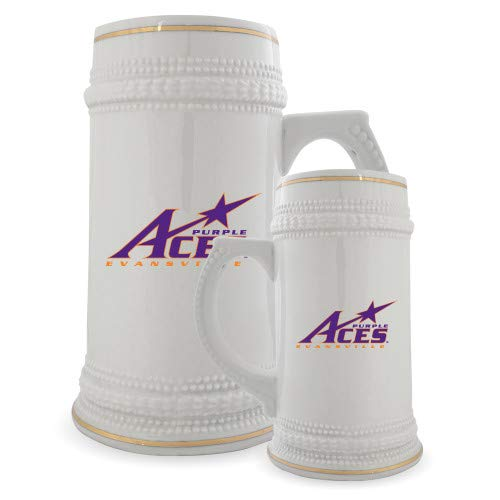 Evansville Full Color Decorative Ceramic Mug 22oz 'Purple Aces Official Logo' by CollegeFanGear