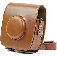Fujifilm Instax SQ10 Carrying Case, PU Leather Protection Case with Adjustable Strap for Fujifilm Instax SQUARE SQ10 Hybrid Instant Camera, Brown