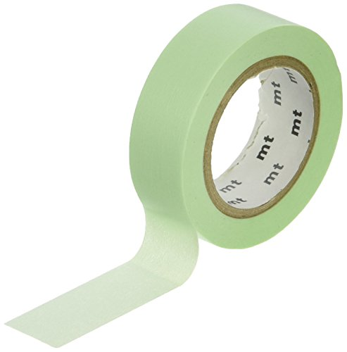 MT Washi Masking Tape, 1P Basic, 15mm x 10m, Pastel Green (MT01P309)