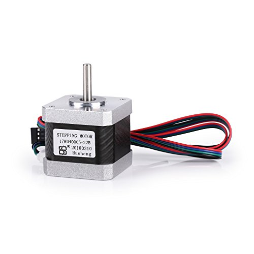 SainSmart 2-Phase Nema 17 Stepper Motor 45oz.in 1.5A, 42x42x34mm 4-Lead with 1m Cable for 3D Printer CNC by SainSmart