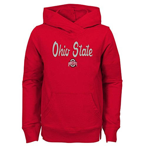 - NCAA Ohio State Buckeyes Youth Girls Claim to Fame Overlay Hoodie, Youth Girls Large(14), Red