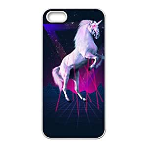 iPhone 4 4s Cell Phone Case White The last laser unicorn Miegd