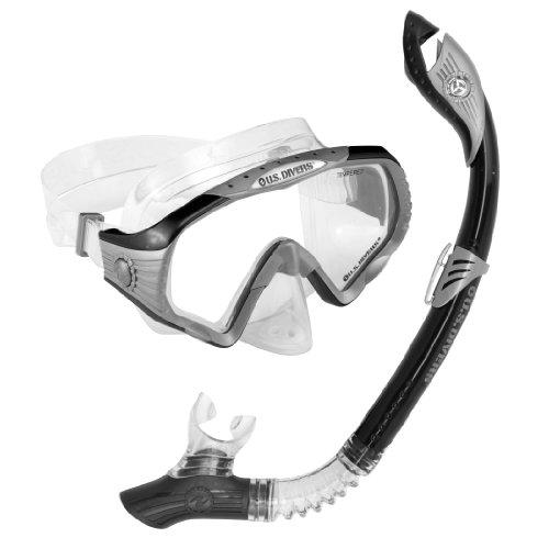 U.S. Divers Starbuck II Paradise Dry II LX Snorkel Purge Mask (Black) ()