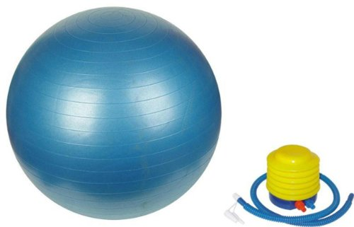 Sivan Health & Fitness Yoga Stability Ball and Pump, Blue, 75cm