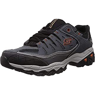 Skechers mens After burn m.fit fashion sneakers, Charcoal, 8 X-Wide US