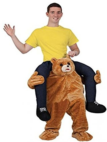 Ride On Riding Shoulder Adult Baby Beer Guy Christmas Halloween Costume Unisex Fancy Dress (Teddy Bear)