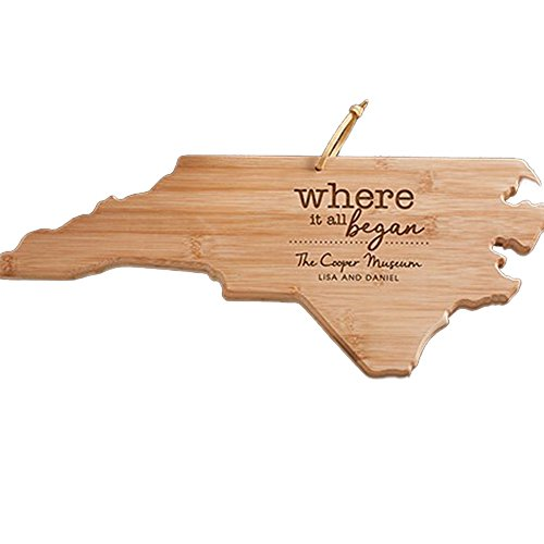 Engraved Where It All Began North Carolina State Cutting Board, Bamboo, Personalized