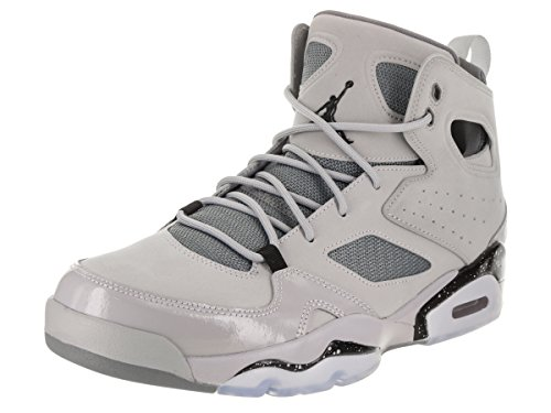 Jordan Nike Men's FLTCLB '91 Wolf Grey/Black/Cool Grey Basketball Shoe 7.5 Men US by Jordan