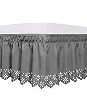 Obytex Wrap Around Bed Skirts, Elastic Dust Ruffle Silky Soft & Wrinkle Free Easy Fit Classic Look in Your Bedroom