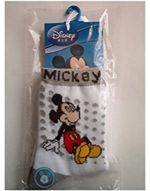 Disney Mickey Socks, White/Grey, 16-18 cm