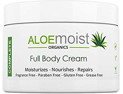 Natural Body & Face Cream Moisturizer - Non Greasy, No Fragrance - Organic Aloe Vera, Vitamin C, E, Retinol – For Eczema, Psoriasis, Acne, Scars, Stretch Marks, Sensitive Dry Skin - For Men & Women