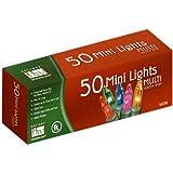 Noma/Inliten-Import 50 Count Multi Color Light Set 4051-88 Christmas Lights Miniature End To End