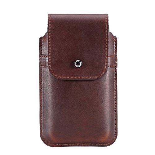 Limited Edition: Blacksmith-Labs Barrett Mezzano 2017 Premium Leather Swivel Belt Clip Holster for Apple iPhone 6/6s/7 for use with Apple Leather Case - Horween Chromexcel Havana Brown/Gunmetal Clip by Blacksmith-Labs (Image #5)
