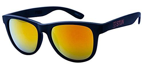 STUN Prime Dusk Wayfarer Sunglasses (Black Orange) Unisex (Orange Wayfarer)