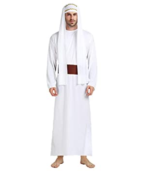 Talla única - Disfraz de jeque musulmán árabe para Hombre ...