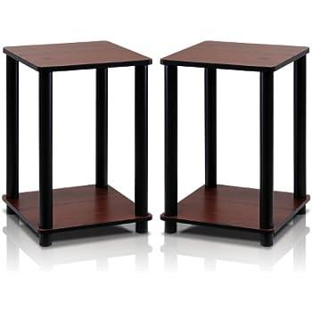 Amazon Com Furinno 11157dbr Bk End Table Bedroom Night