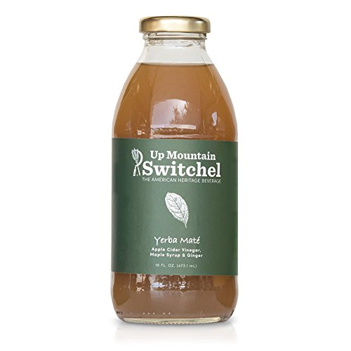Organic Support Apples (Up Mountain Switchel Beverage, Yerba Mate | All Organic - Fresh Ginger, Maple Syrup and Apple Cider Vinegar | Healthy Sports Drink and Cocktail Mixer (12-pack))