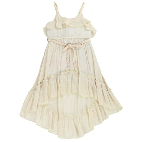Toddlers and Girls Beach Beauty Ruffle High-Low Gauze-Cotton Dress in Ivory 4T]()