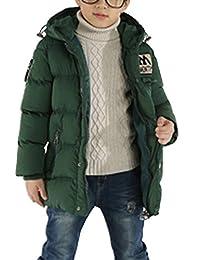 OCHENTA Winter Boys Thicken Hooded Jacket Overcoat Age of 4-9
