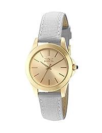 Invicta 15149 Reloj para Mujer, Redondo, Análogo, color Oro y Blanco