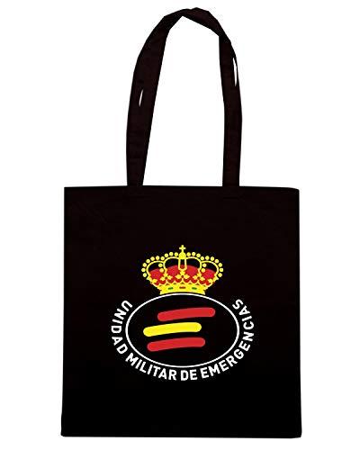 EMERGENCIAS Speed MILITAR UNIDAD SPAGNA TM0292 Shirt UME Shopper Nera Borsa 7f7v8