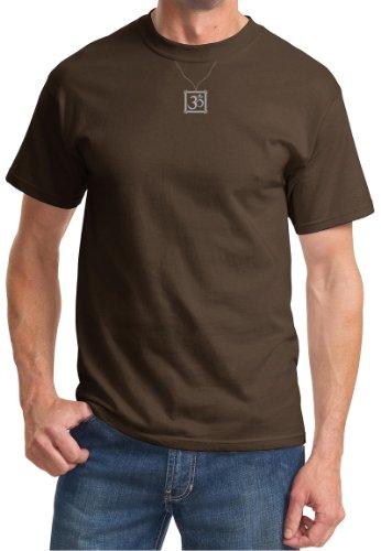 Aum CHARM Mens Yoga Meditation Symbol T-shirt - Brown, 6XL