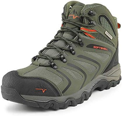 NORTIV 8 Men's Ankle High Waterproof Hiking Boots Outdoor Lightweight Shoes Trekking Trails
