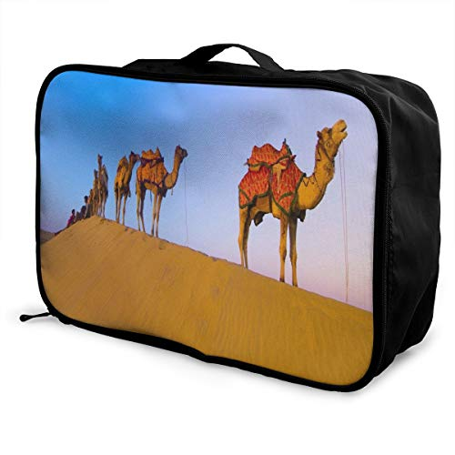 Lightweight Large Capacity Portable Luggage Bag Desert Camel Team Travel Waterproof Foldable Storage Carry Tote Bag ()