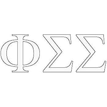 Phi Sigma Sigma Greek Letter Window Sticker Decal
