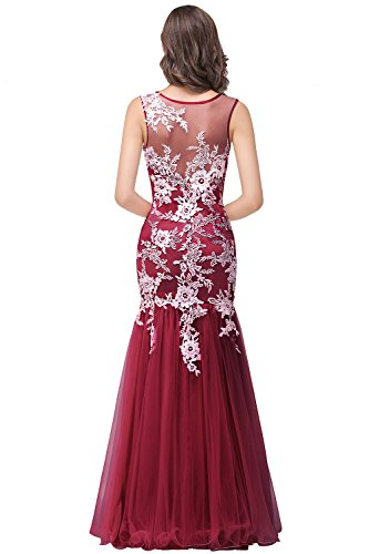 Sexy Dress For Teens (Sexy Teen Masquerade Dress See Through Long Homecoming Gown,Dark Red,Size 10)