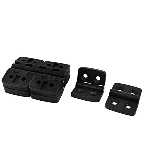 uxcell 10 Pcs Reinforced Black Plastic Door Bearing Hinge 40mm x ()