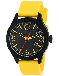 ESQ Movado Unisex 07301432 ESQ ONE Black Stainless Steel Watch with Yellow Silicone Band