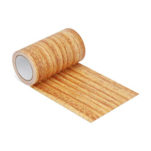 """Repair Tape Patch 2.4"""" X15' Wood Textured Adhesive for Door Floor Table and Chair(Natural Oak) from ONine"""