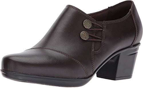 Clarks Women's Emslie Warren Slip-on Loafer,Dark Brown,5 M US