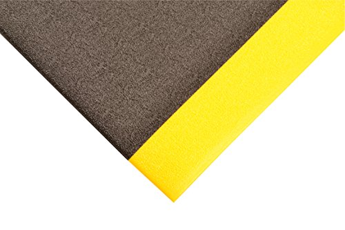 - NoTrax 415 Pebble Step Sof-Tred Safety/Anti-Fatigue Mat with Dyna-Shield PVC Sponge, for Dry Areas, 3' Width x 5' Length x 3/8