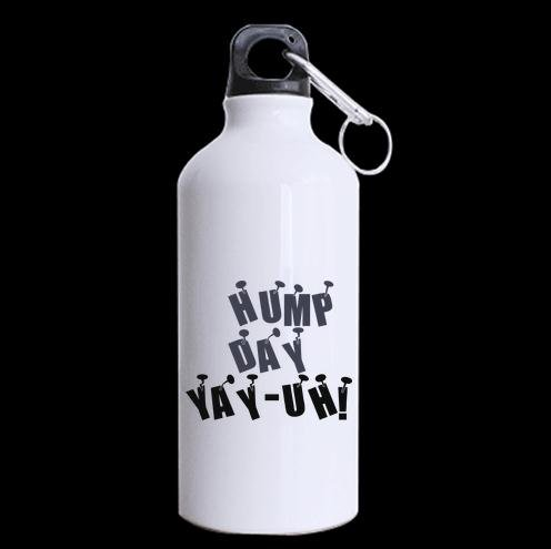 Cool Design Funny Quotes Hump Day Yay-Uh Pattern Sports Bottle - Aluminum Material Water Bottle - 13.5 OZ Two Sides Print