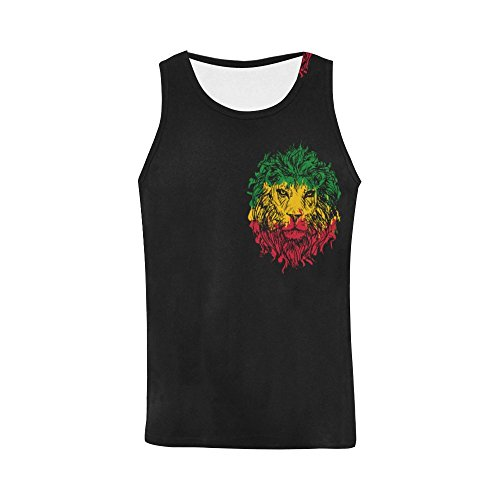 Tank Top for Men, Colorful Lion Head Athletic Boy Workout Sleeveless Muscle Vest ()