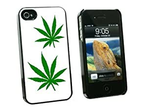 Graphics and More Marijuana Leaf Leaves - Pot Weed - Snap On Hard Protective Case for Apple iPhone 5 5s - Black - Carrying Case - Non-Retail Packaging - Black