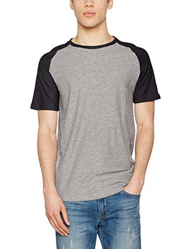 JACK & JONES Jornew Stan Tee Ss Crew Neck, Camiseta para Hombre Multicolor (Light Grey Melange Detail:tap Shoe Sleeve - Slim)