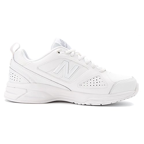 New Balance Womens WX623v3 Casual Comfort Training Shoe White/Silver TILX6