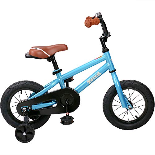 JOYSTAR 14 Inch Kids Bike for 3 4 5 Years Boys, Child Bicycle with Training Wheels & Coater Brake, Blue, 85% Assembled