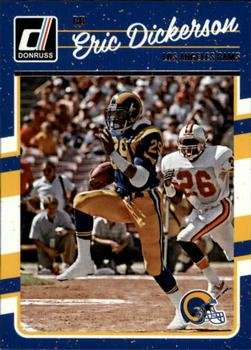 160 Rookie Football Card - 2016 Donruss #160 Eric Dickerson - Los Angeles Rams (NFL Football Card)